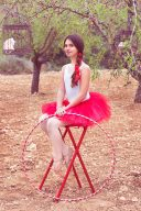 Bailarina con aro. Foto artística de Rocío Sierra Photography