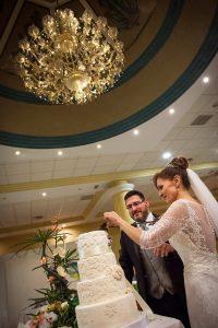 Fotografía de bodas momento de la tarta