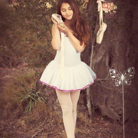 Foto de niña estilo vintage de bailarina