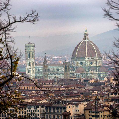 Foto del Duomo al amancer en Florencia