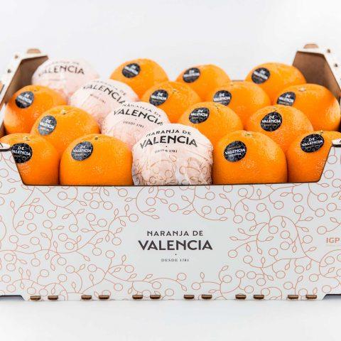 Foto de envase de naranjas