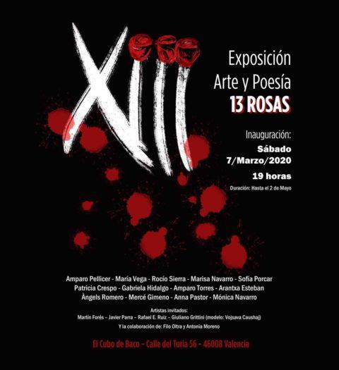 Cartel de la exposición Trece Rosas